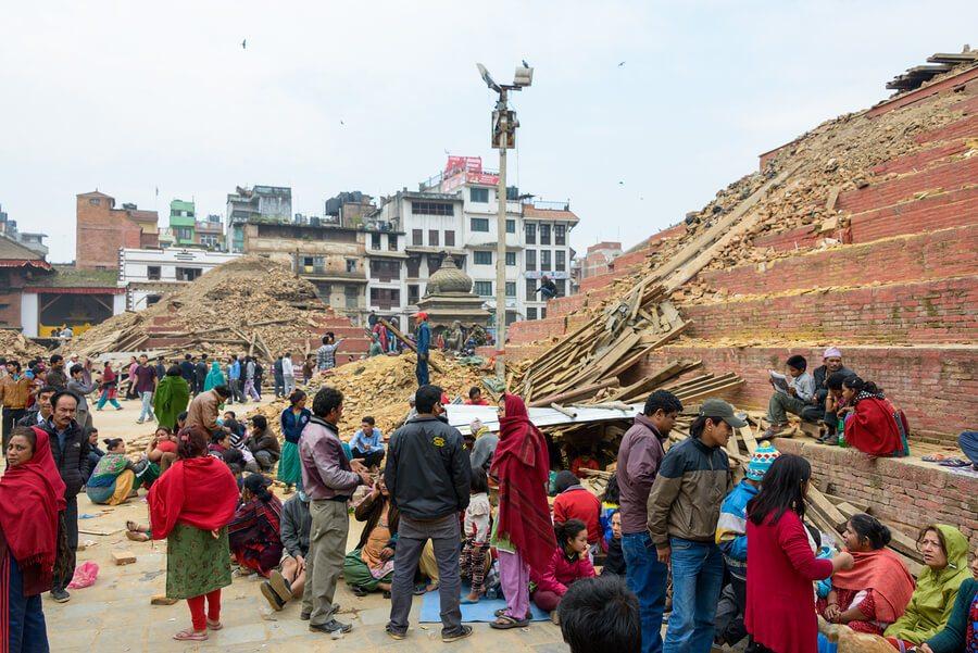 KATHMANDU, NEPAL - APRIL 26, 2015: Durbar Square