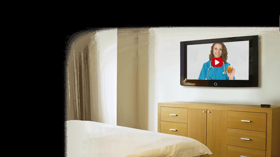 remote medical care on TV