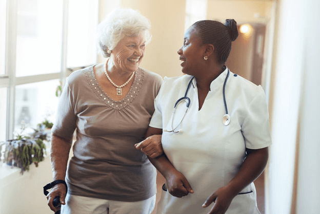 Assisted living staff should be friendly and warm to elderly